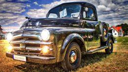 old black pickup truck