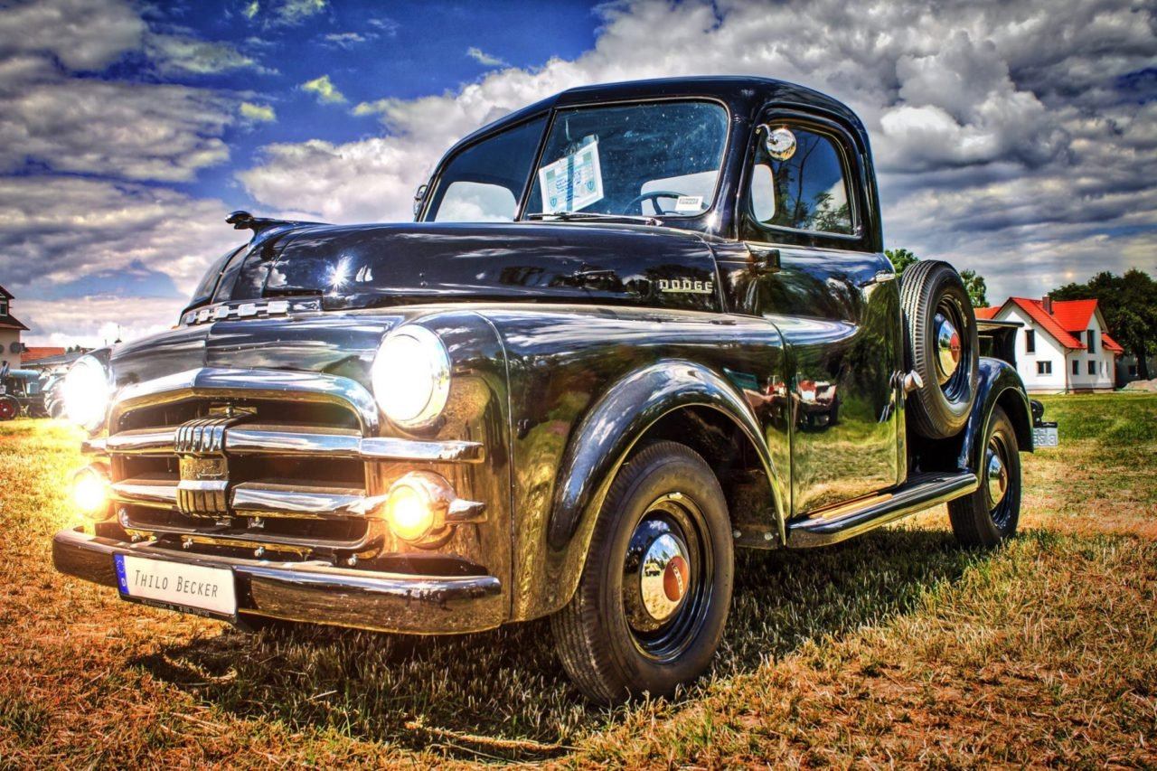 old black pickup truck