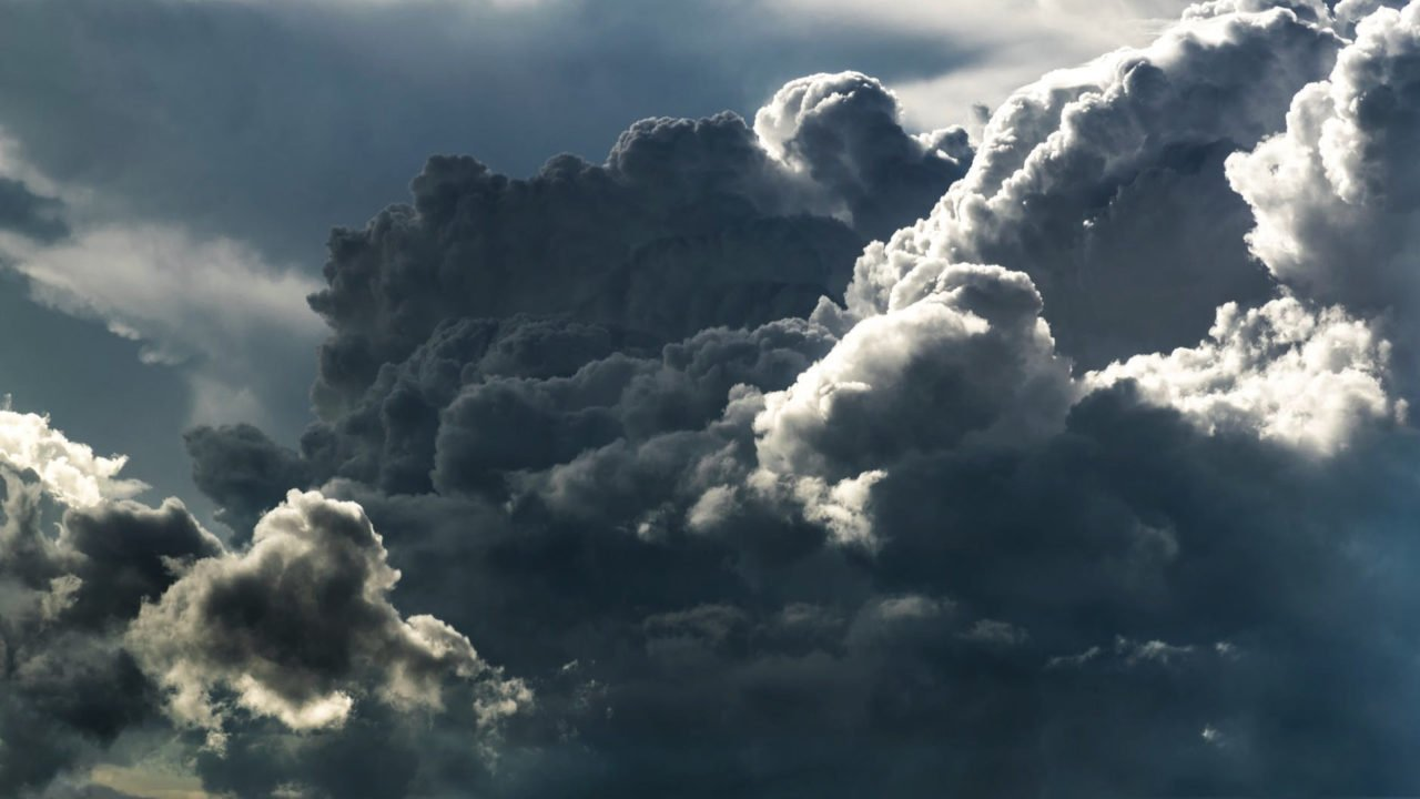 light and dark clouds