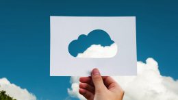 paper with a cloud cut out