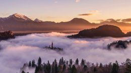 picture of valley with low lying fog