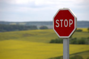 stop sign out in field